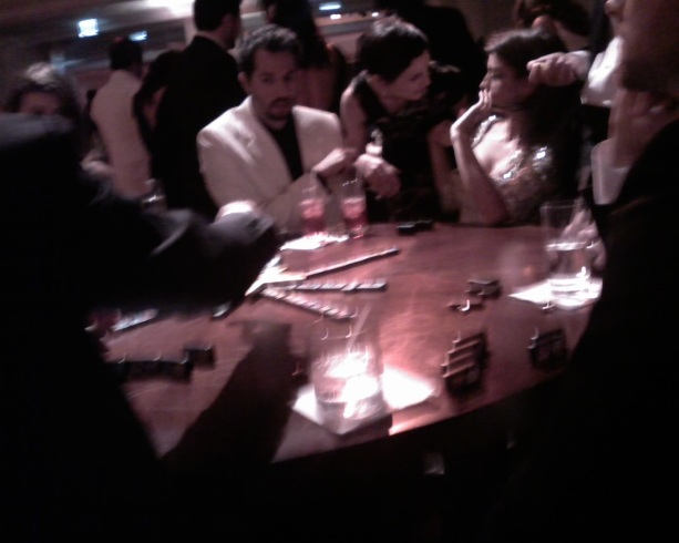 Penelope Cruz playing Dominoes