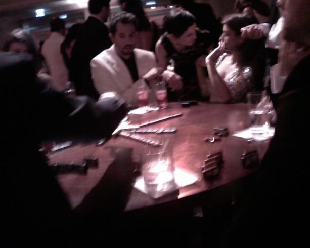 Penelope Cruz playing Dominoes