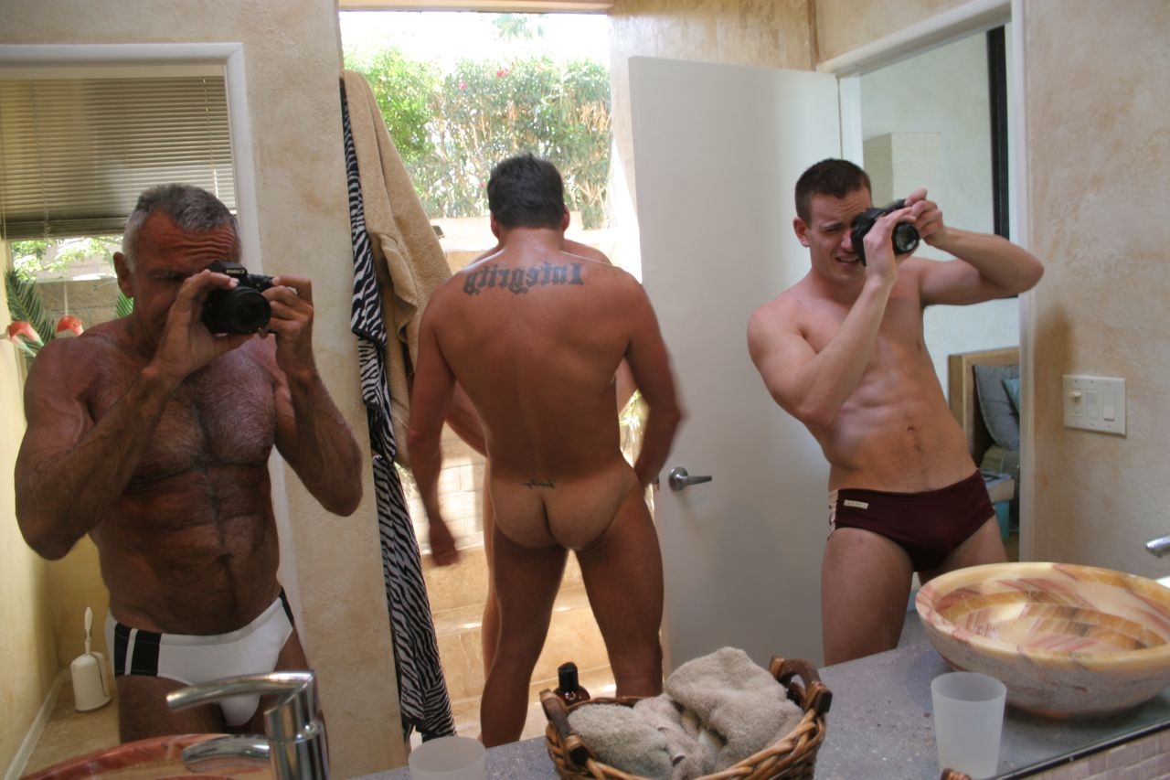 Gay naked couples with erection postcum